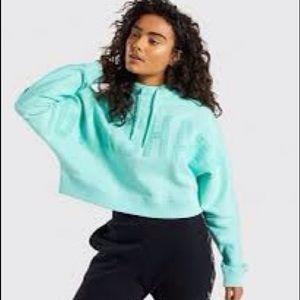 Gymshark repeat print cropped hoodie